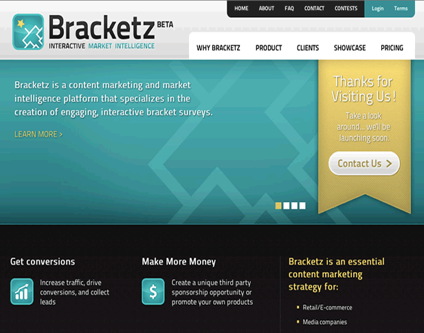 Bracketz Online Bracket Building Web Application Screenshot