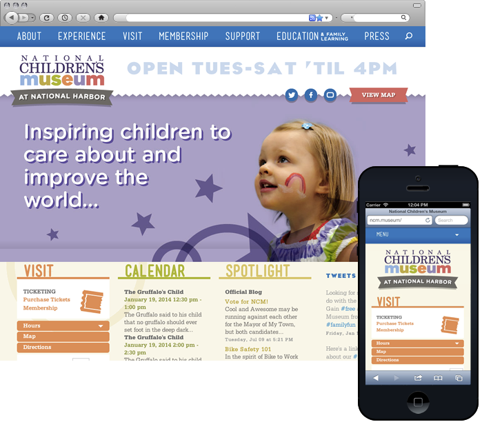 National Children's Museum Responsive Website