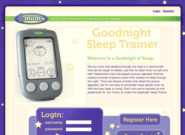 Good Night Sleep Trainer Web App Screenshot