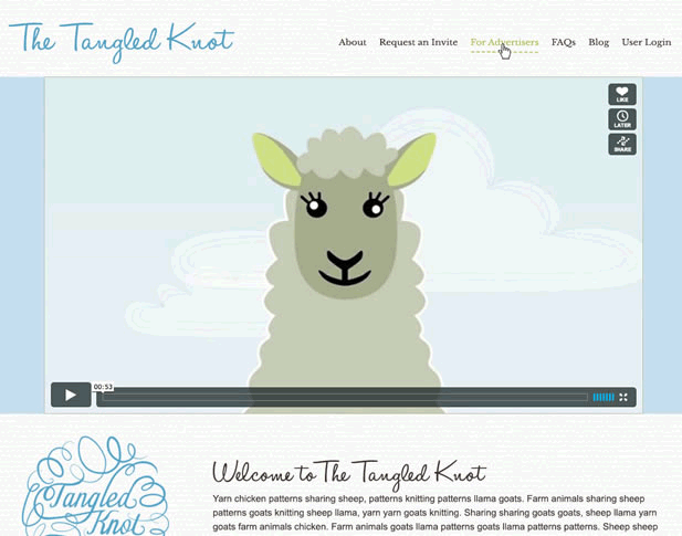 Tangled Knot Custom Laravel Web App and Responsive Website